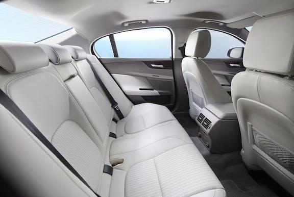 Rear seat shot of the Jaguar XE