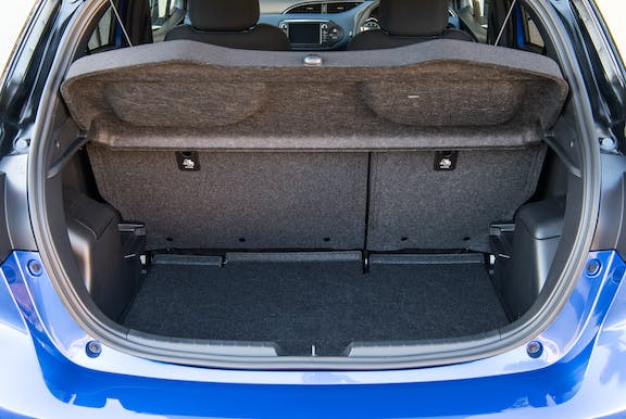Boot space shot of the Toyota Yaris