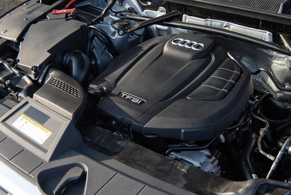 Engine shot of the Audi Q5