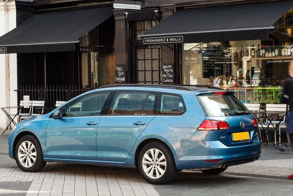 The front exterior of the Volkswagen Golf