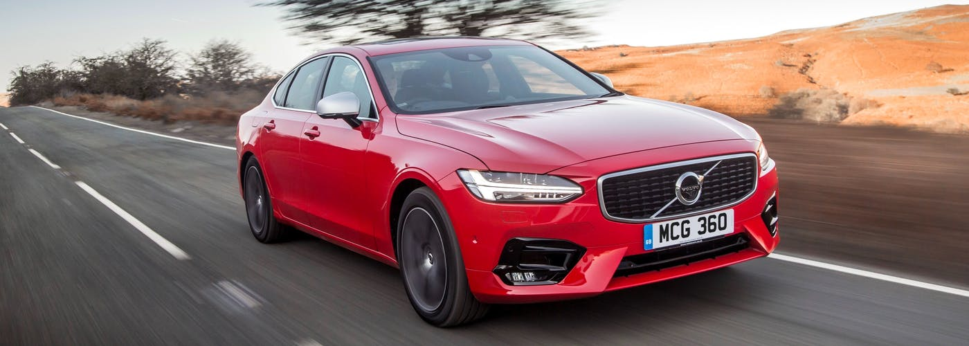 Front exterior of the Volvo S90