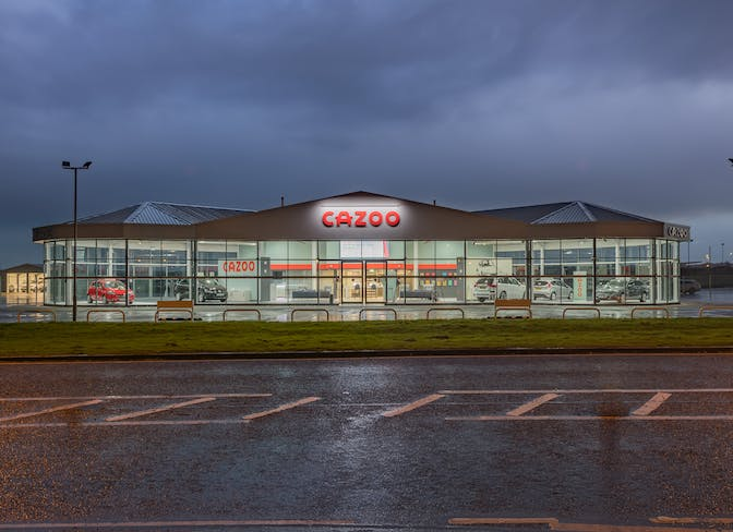 The exterior of the Cazoo Bishop Auckland