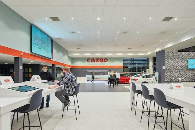 The inside of the Birmingham Cazoo Customer Centre