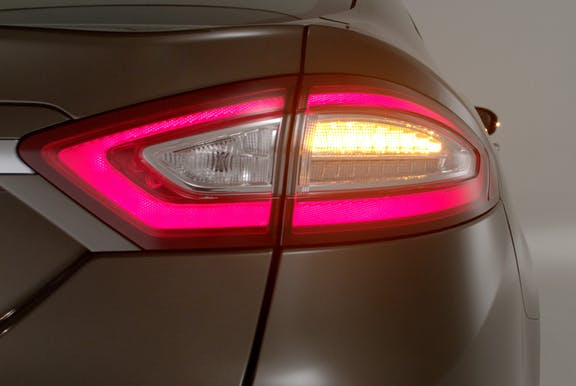 Rear light shot of the Ford Mondeo