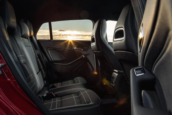 Rear seat shot of the Mercedes-Benz CLA