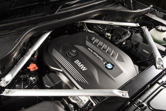 Engine shot of the BMW X5