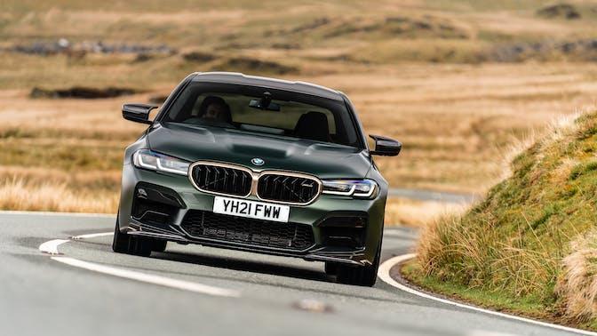 2021 BMW M5 CS [green] driving