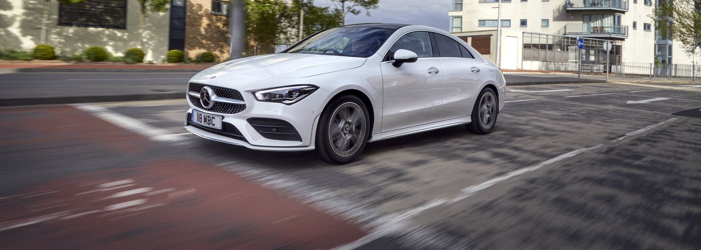 Mercedes-Benz CLA driving