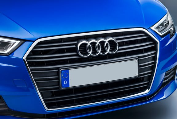 Close up of an Audi A3 with grille