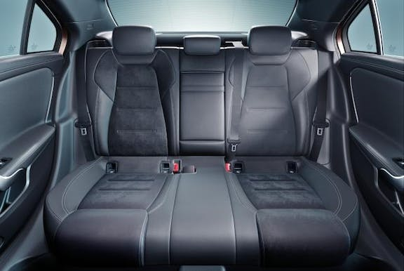 Rear seat shot of the Mercedes A-Class