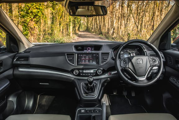 Interior shot of the Honda CR-V