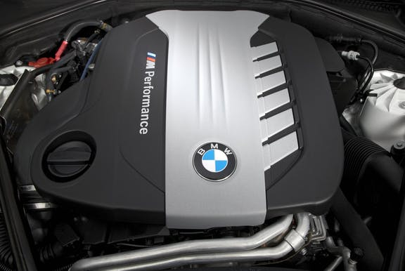 Engine shot of the BMW 5 Series