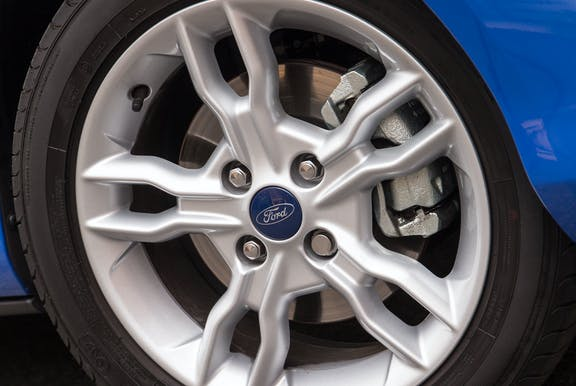 Wheel shot of the Ford B-Max