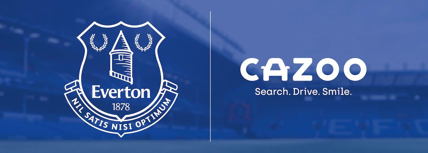 Everton and Cazoo logos