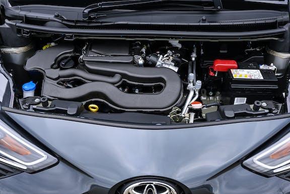 Engine shot of the Toyota Aygo