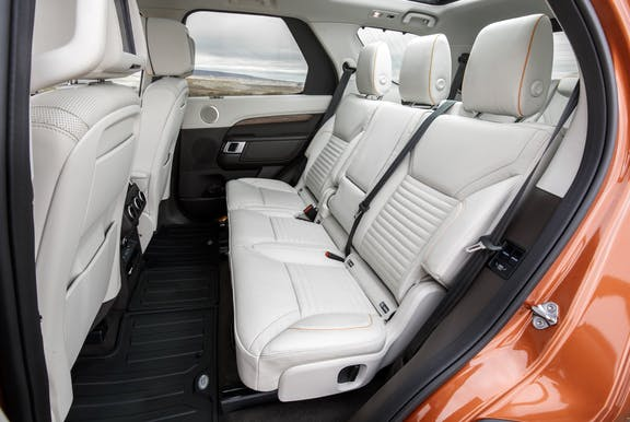 Rear seat shot of the Land Rover Discovery