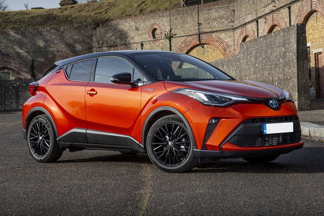 The front exterior of a Toyota C-HR