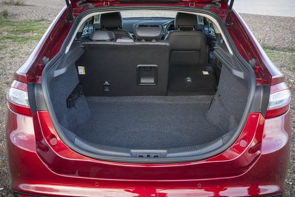 Boot space shot of the Ford Mondeo