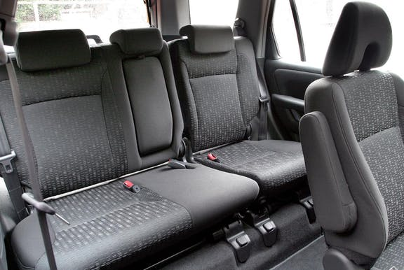 Rear seat shot of the Honda CR-V