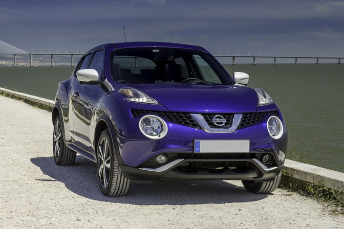 The front exterior of a Nissan Juke