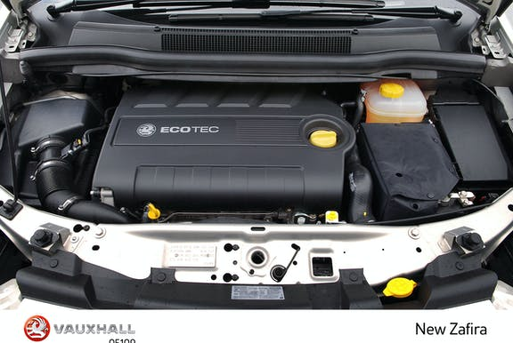 Engine shot of Vauxhall Zafira Tourer
