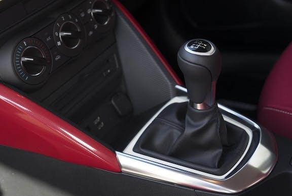 Gear stick shot of the Mazda 2