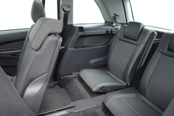 Rear seat shot of the Vauxhall Zafira Tourer