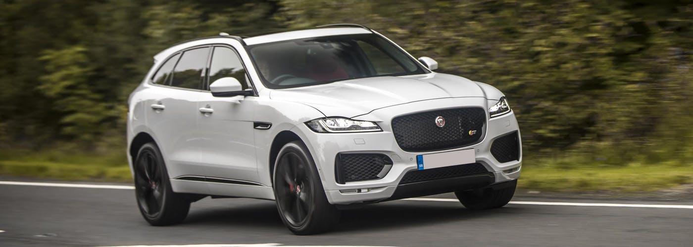 Front exterior of the Jaguar F-Pace