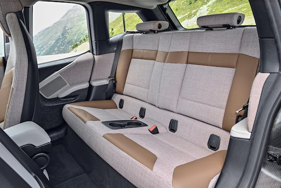 Rear seat shot of the BMW i3
