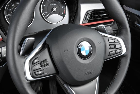 Steering wheel shot of the BMW X1