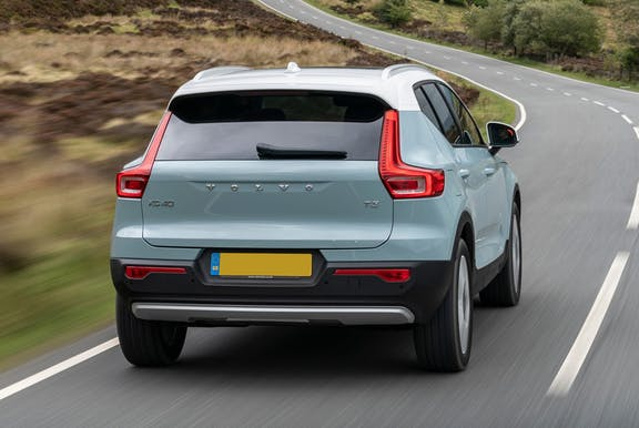 The rear exterior of a Volvo XC40