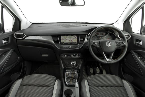Interior shot of the Vauxhall Crossland X