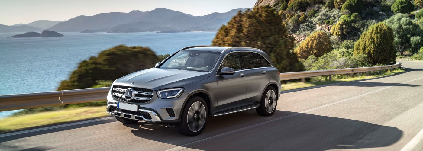 Front exterior shot of the Mercedes Benz GLC Class