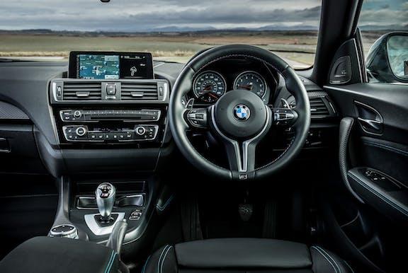 Interior shot of the BMW M2