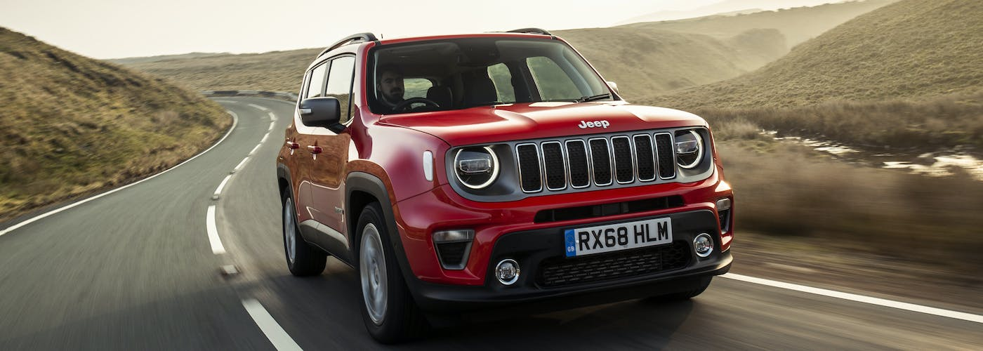 The front exterior of the Jeep Renegade
