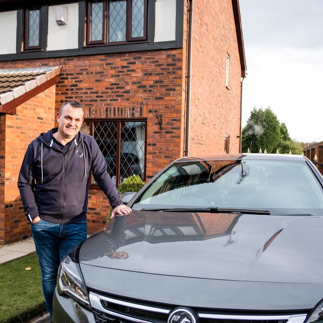 Cazoo customer Barry with his new car