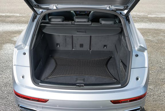Boot shot of the Audi Q5