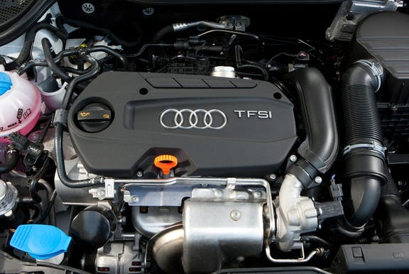 Engine shot of the Audi A1