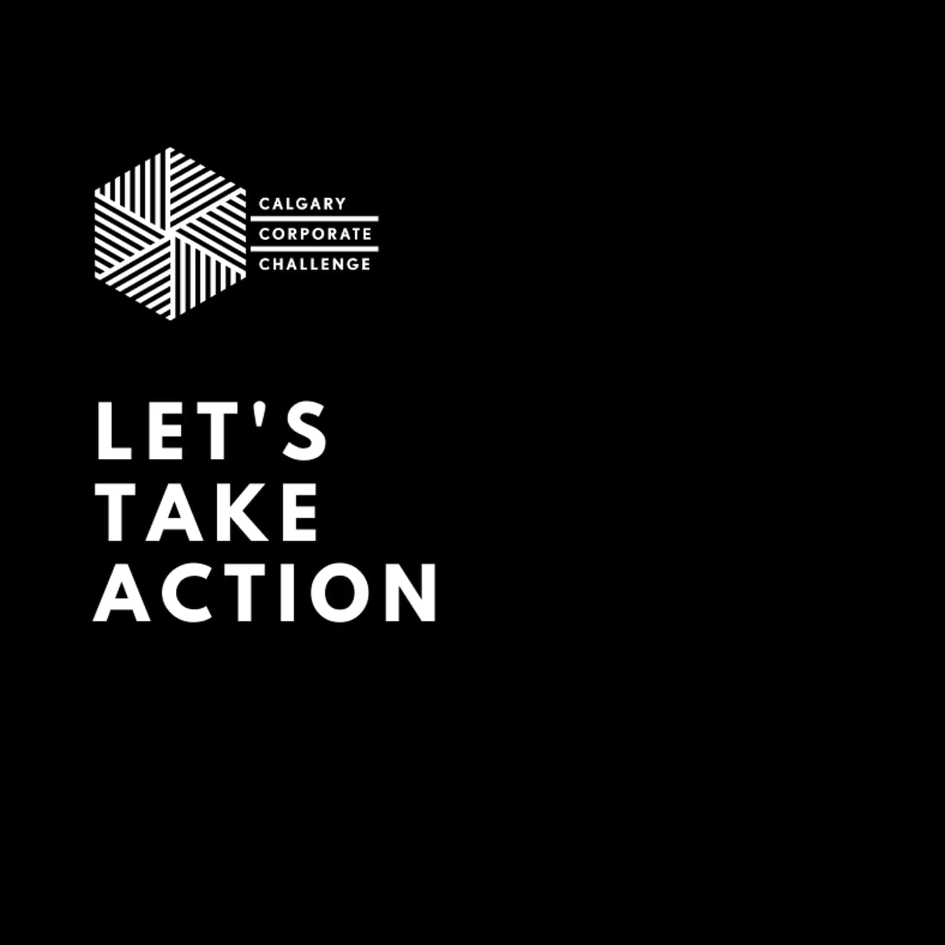The words 'let's take action' on a black background with the CCC logo in white