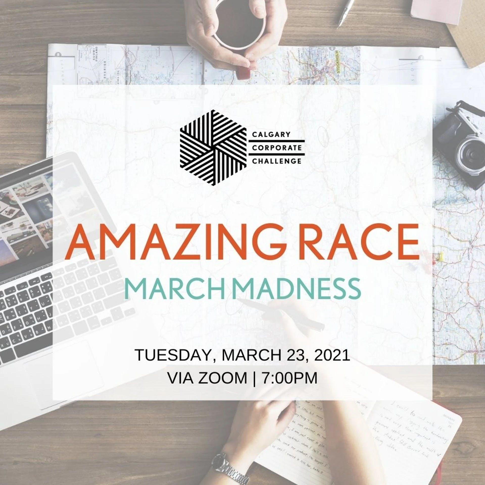 Image advertising the Calgary Corporate Challenge Amazing Race