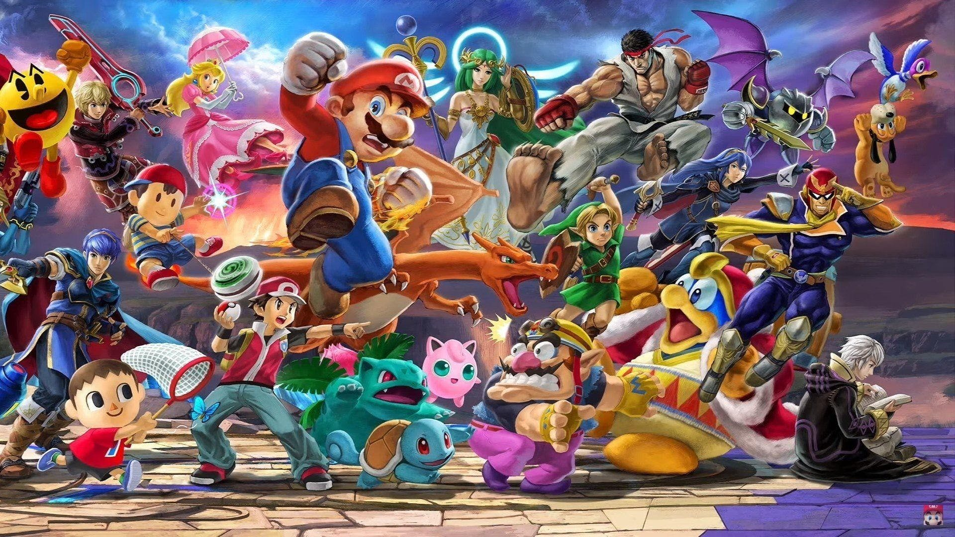 Image of characters from the game Super Smash Bros.