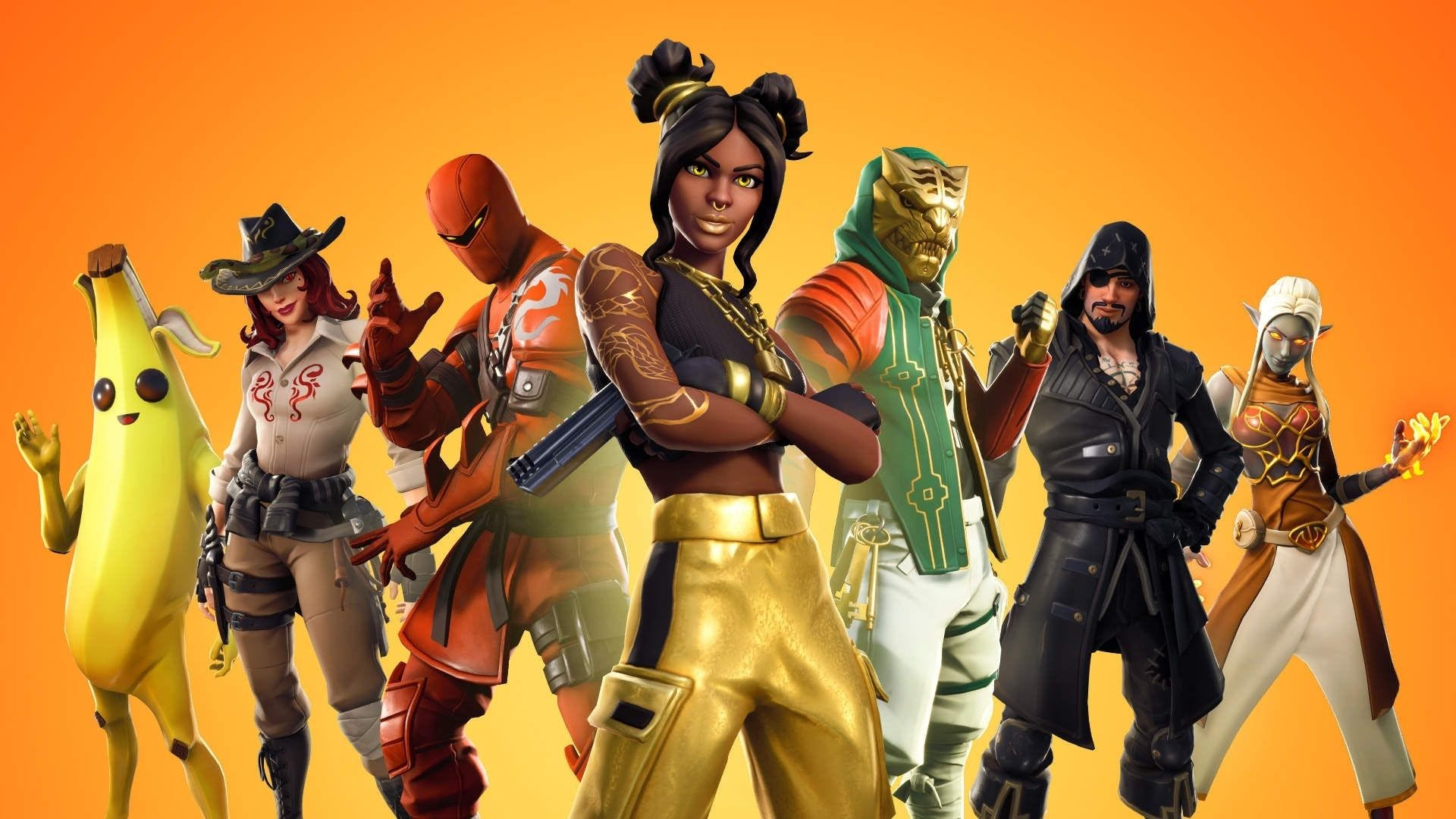 Characters from the game Fortnite