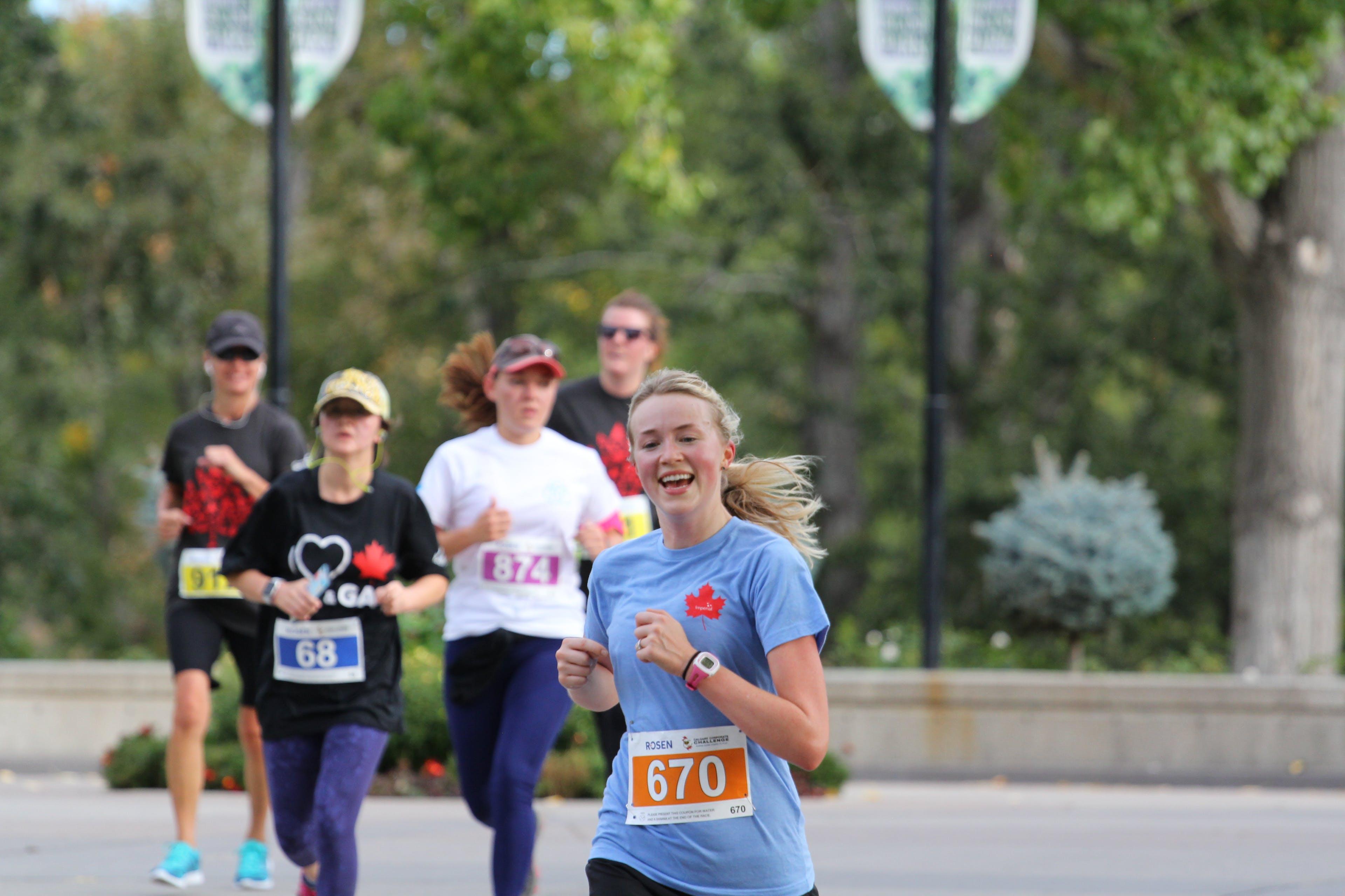 Smiling female runner