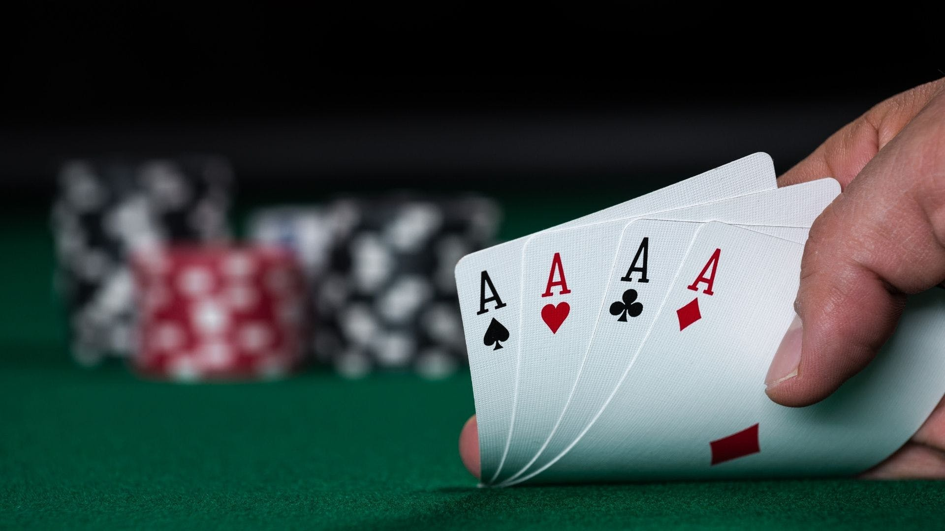 A poker hand of four Aces