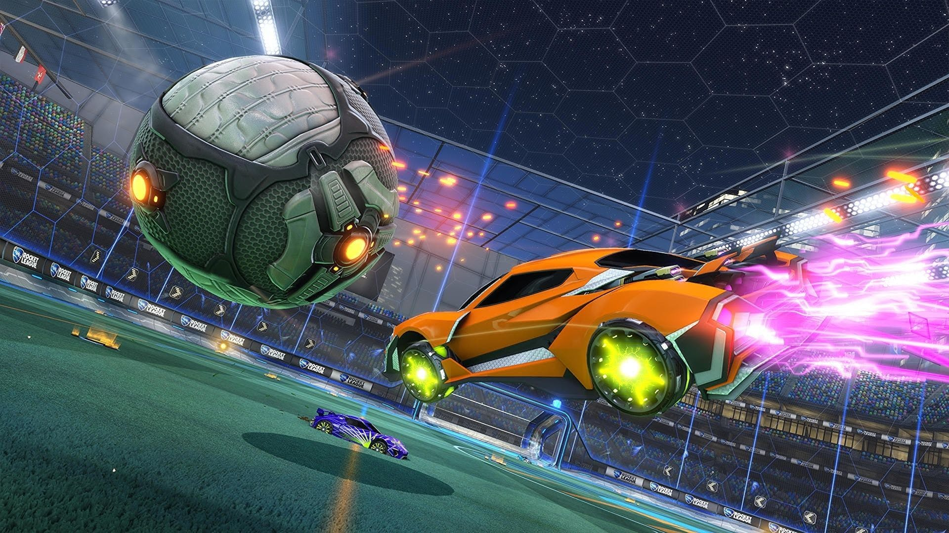 Animated car screenshot from the game Rocket League