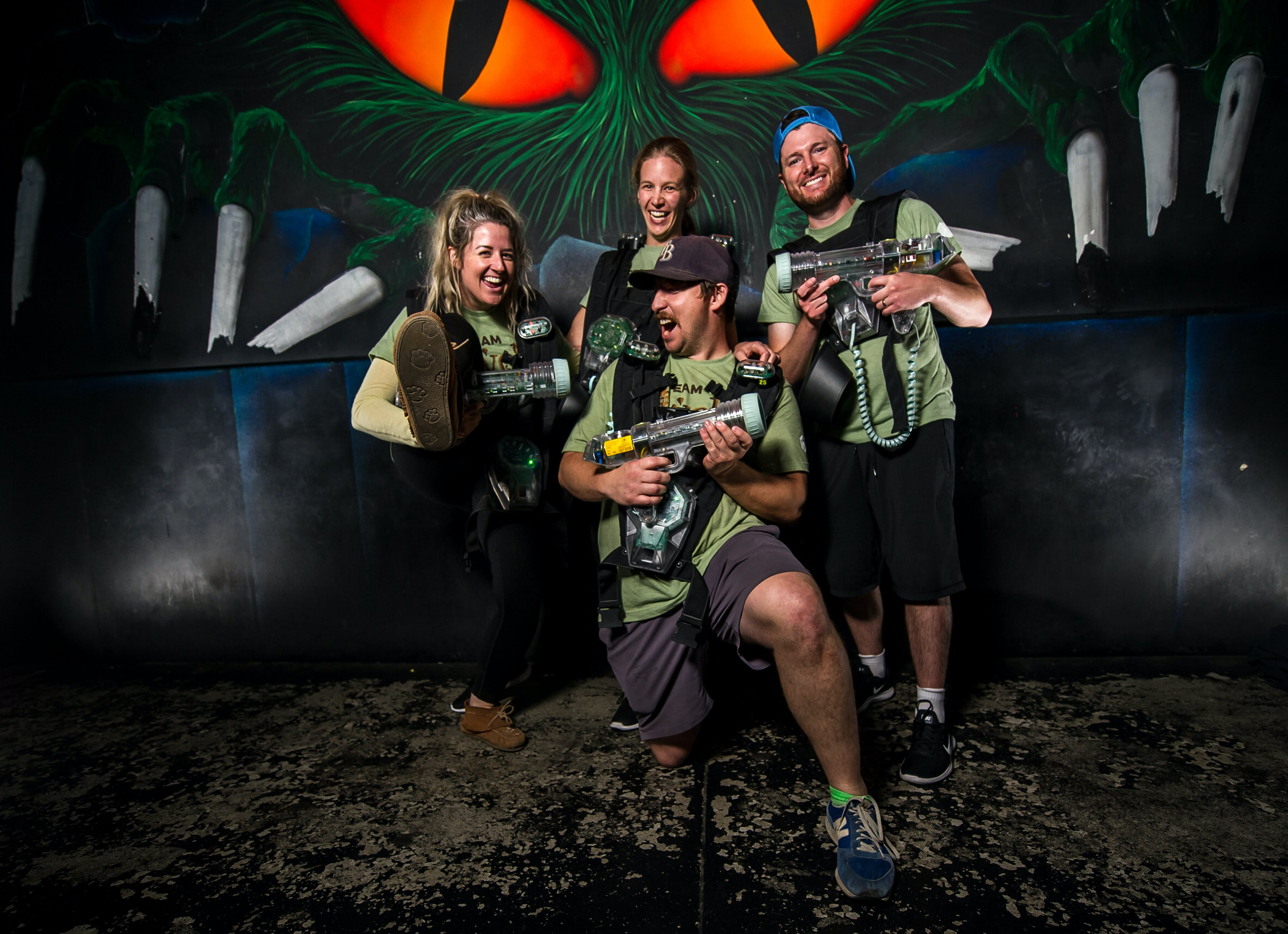 a team at laser tag