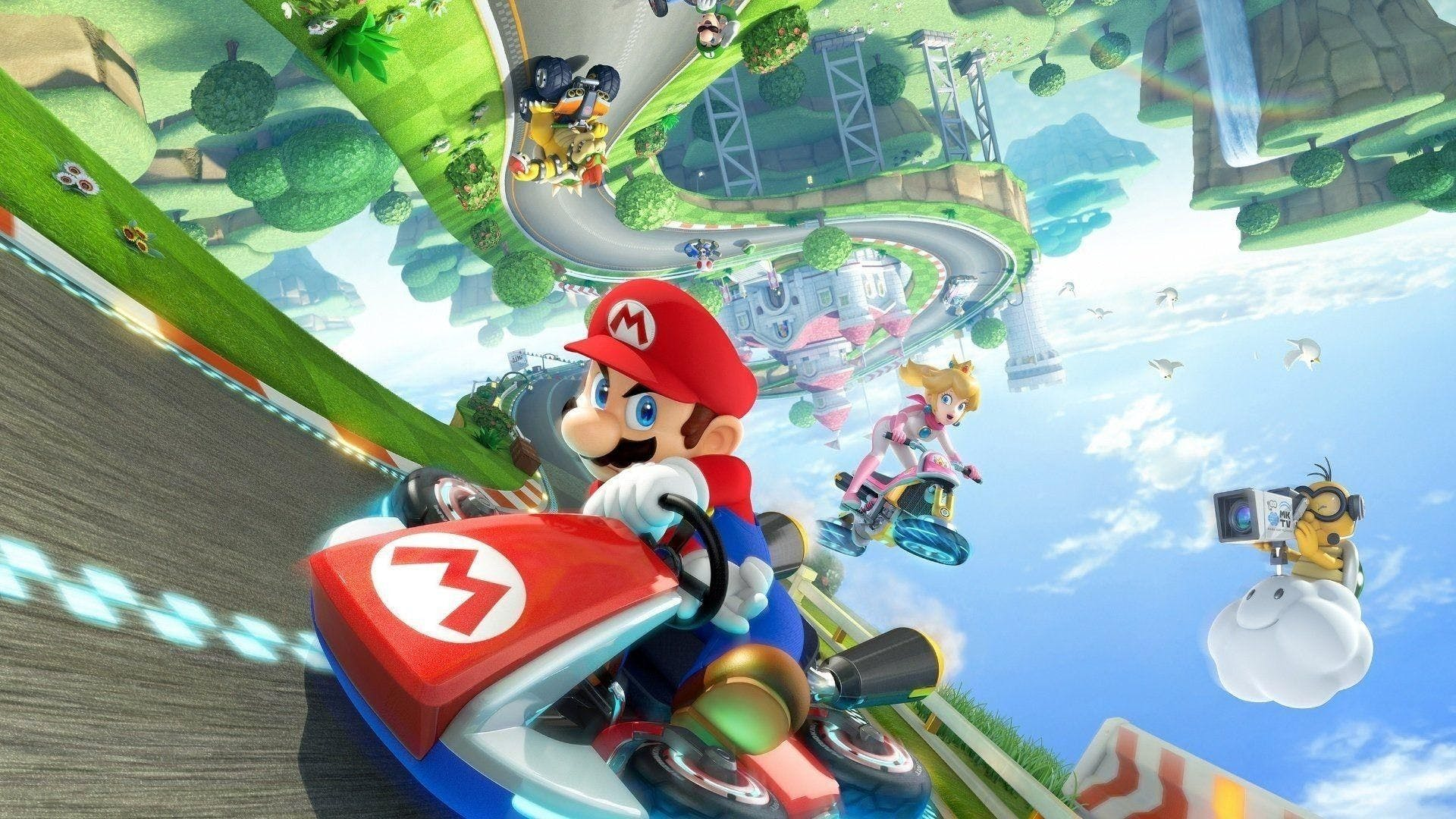 Image of characters from the game Mario Kart