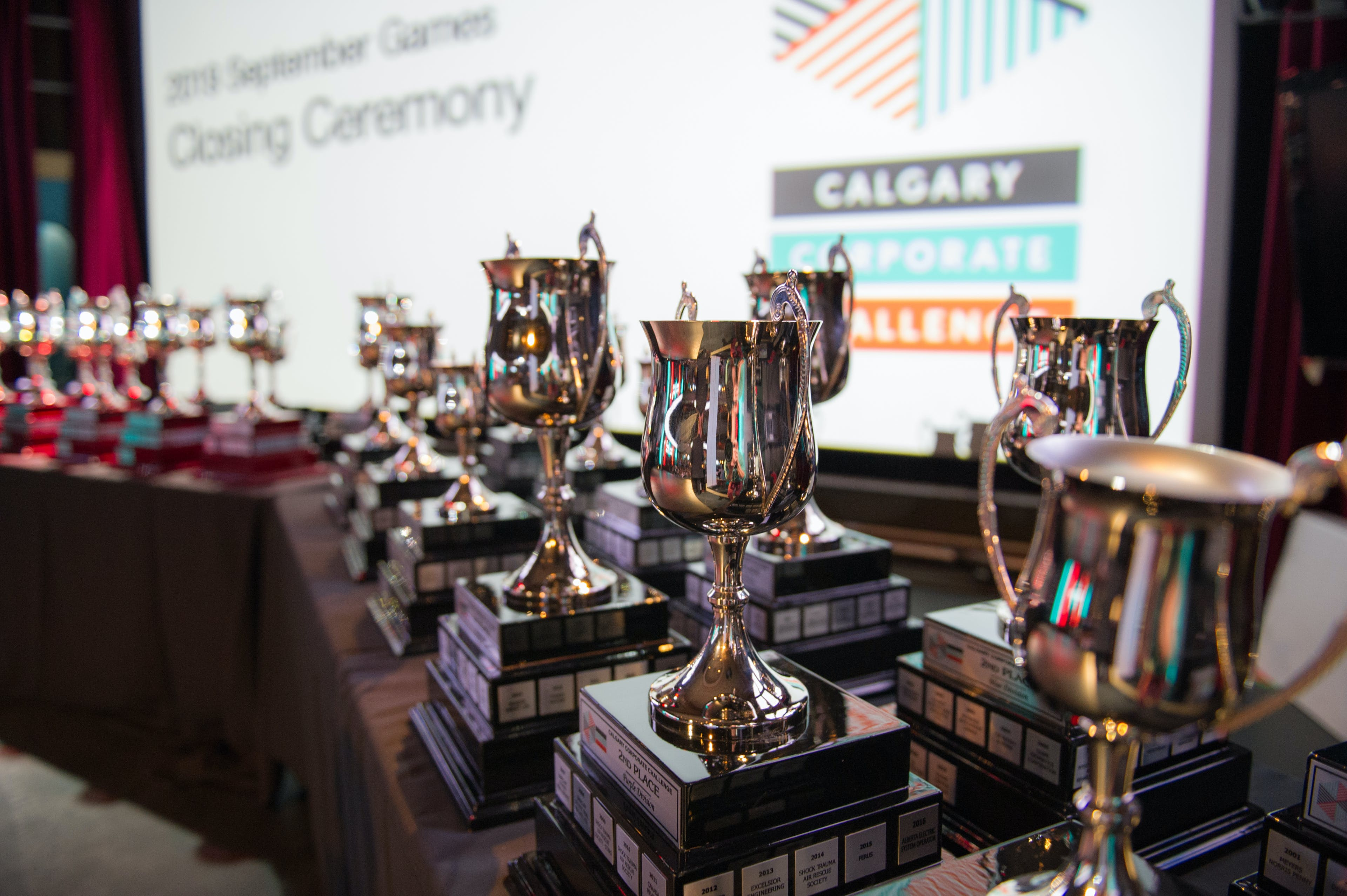 divisional trophies at ccc closing ceremony