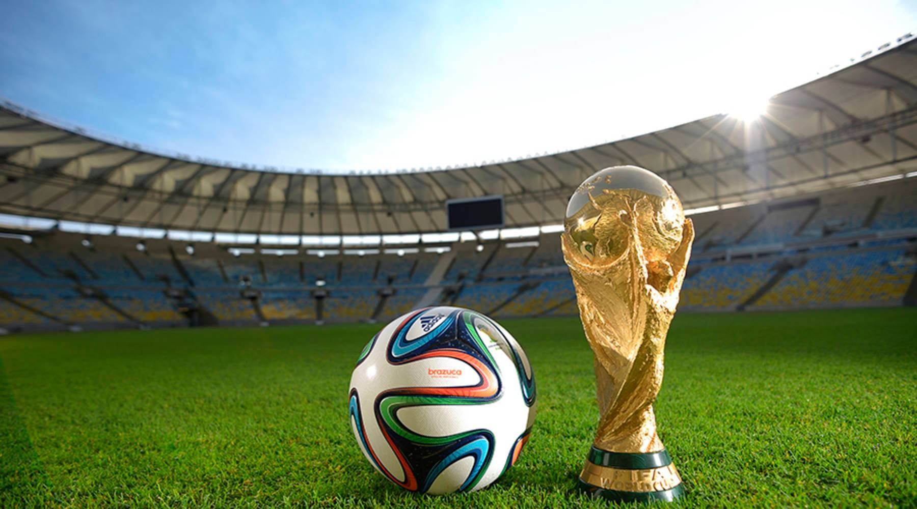 A general view of Brazuca and the FIFA World Cup Trophy at the Maracana before the adidas Brazuca launch at Parque Lage on December 3, 2013 in Rio de Janeiro, Brazil. Alexandre Loureiro/Getty Images for adidas