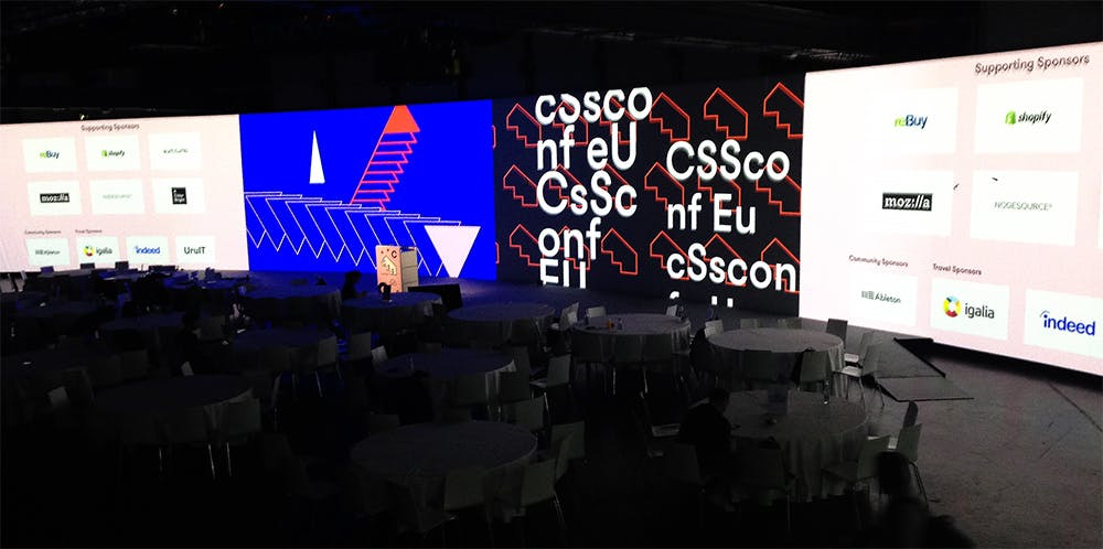 The stage at CSSConf EU 2019